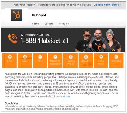 HubSpot-LinkedIn-Page