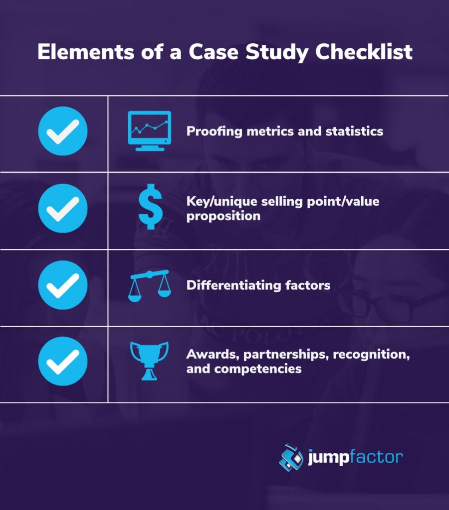 Checklist for creating a b2b case study