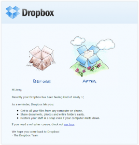Dropbox Email Example
